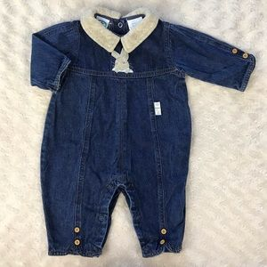 Peter Rabbit Denim Outfit Jean One Piece 3-6 Month